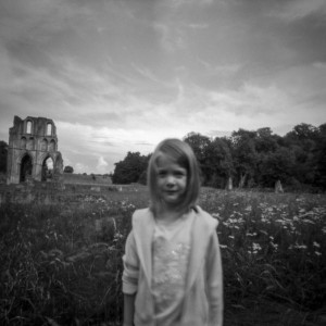 Imogen at Roche Abbey, Rotherham, South Yorkshire