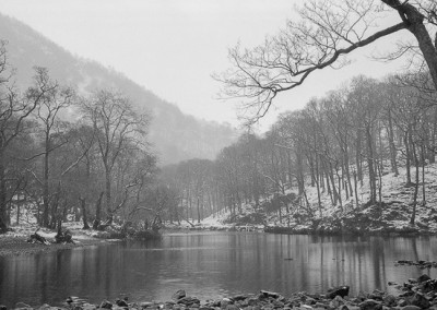 Borrowdale in the snow , Lake District