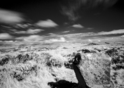 Wet Withins Stone Circle, Eyam Moor, Peak District, Infra Red Pinhole