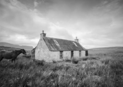 Abandoned Croft, Staffin, Isle of Skye, pinhole black and white photography