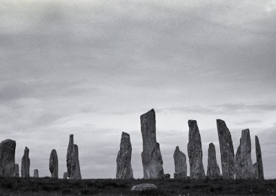 Callanish I Stone Circle, Isle of Lewis, Outer Hebrides, black and white landscape photography