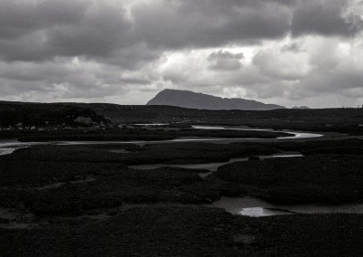 Eaval and Saltmarsh, North Uist, Outer Hebrides, black and white photography