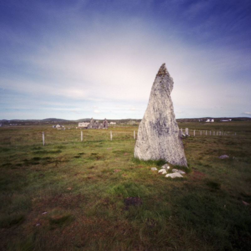 Callanish II, abandoned house, lewis, pinhole