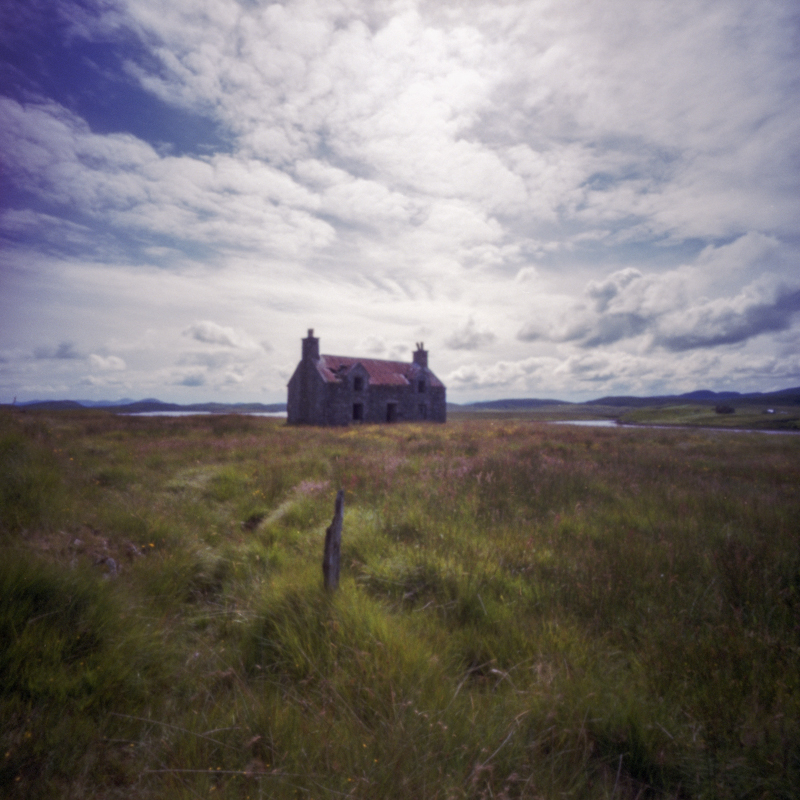 Abandoned House, Callanish II, pinhole, fujifilm