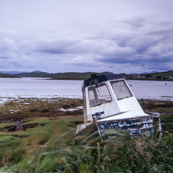End of Life, Callanish, Lewis, Outer Hebrides, abandoned, boat