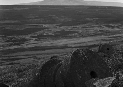 Win Hill from Stanage in the Derbyshire Peak District black and white photography