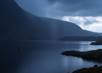 Wast Water and Canoeists, canie, raining, wast water, wasswater, lake district landscape photography