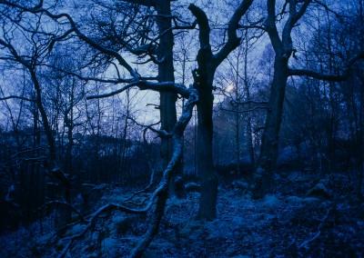 Moonlit Peak District in Winter