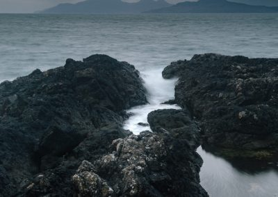 Eigg and Rum, Last Light from Arisaig, Scotland, scottish landscape photography