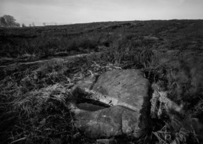 Ties to the Land XXX - Number 27, Moors above Sheffield, black and white landscape photography