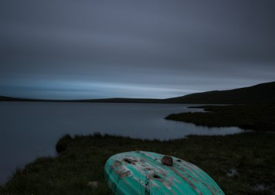 Loch Ra and Boat at Dusk scottish landscape photography