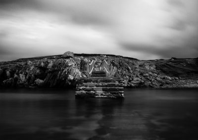 Bridge, Uig Bay, Isle of Lewis, outer hebrides landscape photography, black and white