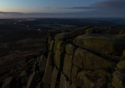 Carl Wark and Fox House from Higger Tor, Peak District, peak disitrict landscape photography
