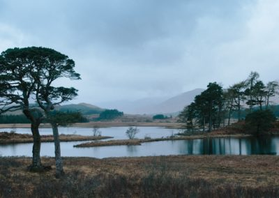 Loch Tulla and Trees, Scotland, scottish landscape photography, scottish landscape photography, panoramic