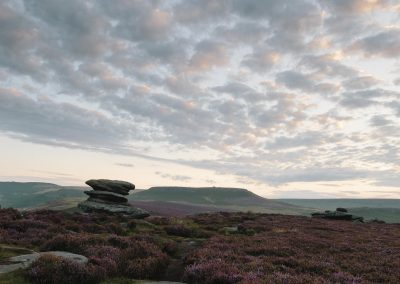 Over Owler Tor, towards Higger Tor, Peak District, peak district landscape photography