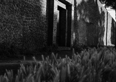 Elysium, Pompeii, Italy, black and white landscape photography