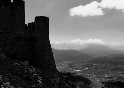 Rocca Calascio, Abruzzo, Italy, black and white landscape photography