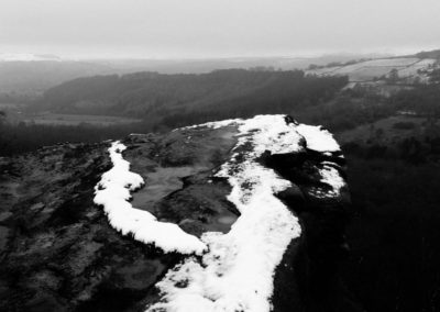 Over the Edge, Gardoms Edge, Peak District National Park, peak district landscape photography, peak district landscape photographer, landscape, black and white