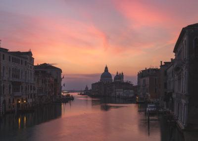 Santa Maria dell Salute from Ponte dell'Accademia, venice, venice landscape photography