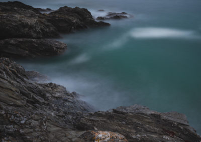 Somewhere between Long Drang and Raven's Hole, Cornwall, seascape, landscape, long exposure