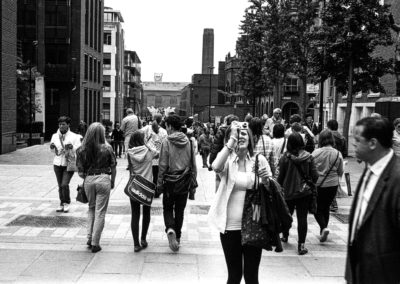 St Paul's and Photographers - Hasselblad Xpan with Ilford HP5, xpan, street photography