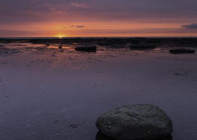 sunrise, saltwick bay, north yorkshire